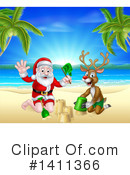 Royalty-Free (RF) Santa Clipart Illustration #1411366