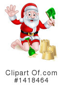 Royalty-Free (RF) Santa Clipart Illustration #1418464