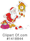 Santa Clipart #1418844 by Alex Bannykh