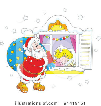 Christmas Clipart #1419151 by Alex Bannykh