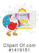 Santa Clipart #1419151 by Alex Bannykh