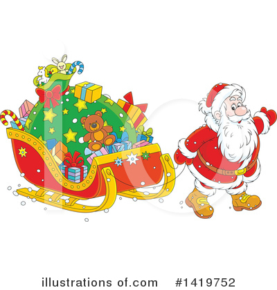 Santa Clipart #1419752 by Alex Bannykh