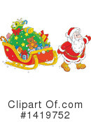 Royalty-Free (RF) Santa Clipart Illustration #1419752