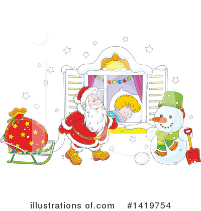 Santa Clipart #1419754 by Alex Bannykh