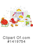 Royalty-Free (RF) Santa Clipart Illustration #1419754