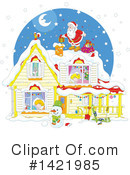 Royalty-Free (RF) Santa Clipart Illustration #1421985