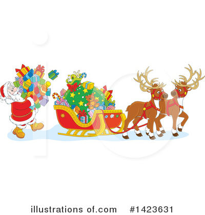 Christmas Clipart #1423631 by Alex Bannykh