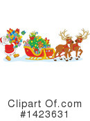 Royalty-Free (RF) Santa Clipart Illustration #1423631