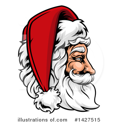 Santa Clipart #1427515 by AtStockIllustration