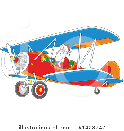 Airplane Clipart #1428747 by Alex Bannykh
