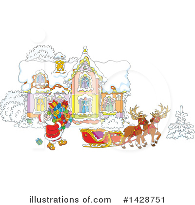 Reindeer Clipart #1428751 by Alex Bannykh