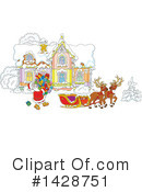 Royalty-Free (RF) Santa Clipart Illustration #1428751