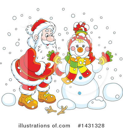 Snowman Clipart #1431328 by Alex Bannykh
