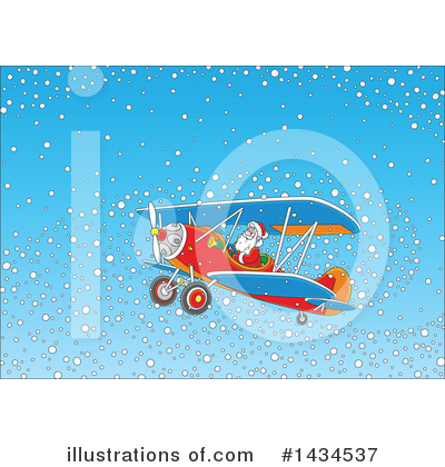 Airplane Clipart #1434537 by Alex Bannykh