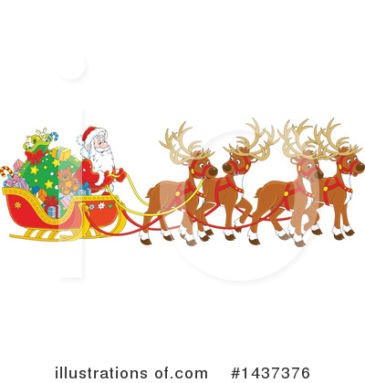Christmas Clipart #1437376 by Alex Bannykh