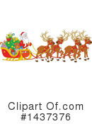 Royalty-Free (RF) Santa Clipart Illustration #1437376