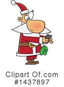 Santa Clipart #1437897 by toonaday
