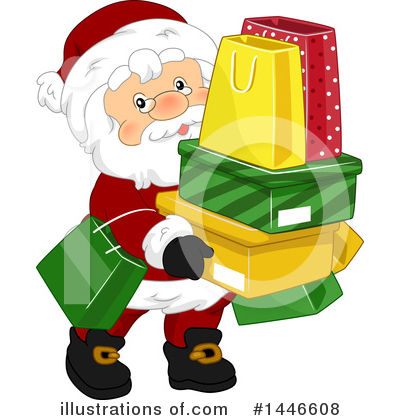 Christmas Shopping Clipart #1446608 by BNP Design Studio