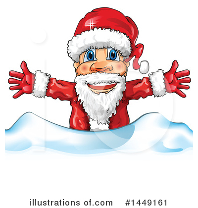 Royalty-Free (RF) Santa Clipart Illustration by Domenico Condello - Stock Sample #1449161