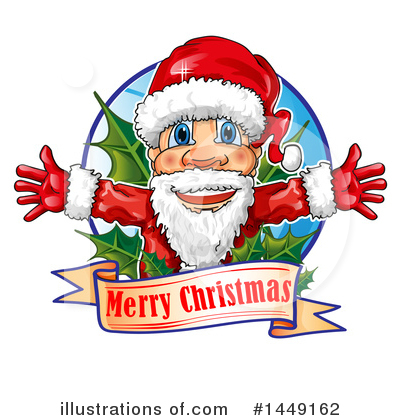 Santa Clipart #1449162 by Domenico Condello