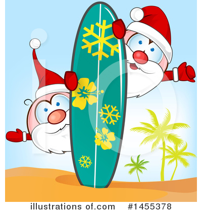 Surfing Clipart #1455378 by Domenico Condello