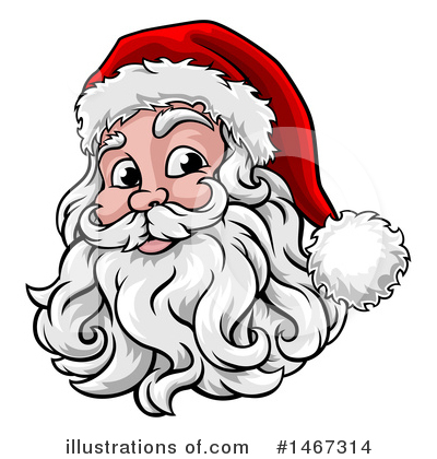Santa Clipart #1467314 by AtStockIllustration
