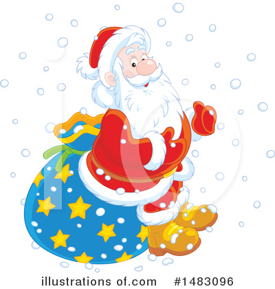 Royalty-Free (RF) Santa Clipart Illustration by Alex Bannykh - Stock Sample #1483096