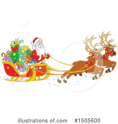 Reindeer Clipart #1505600 by Alex Bannykh