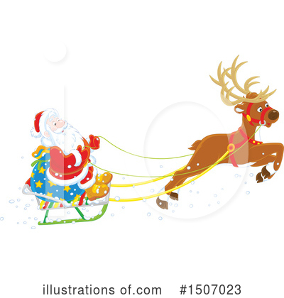 Reindeer Clipart #1507023 by Alex Bannykh