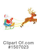 Royalty-Free (RF) Santa Clipart Illustration #1507023