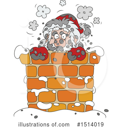 Santa Clipart #1514019 by Alex Bannykh