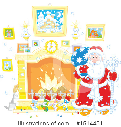 Fireplace Clipart #1514451 by Alex Bannykh