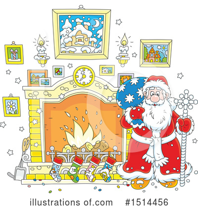 Fireplace Clipart #1514456 by Alex Bannykh