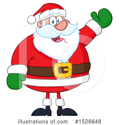 Royalty-Free (RF) Santa Clipart Illustration by Hit Toon - Stock Sample #1528848