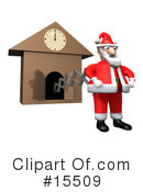 Royalty-Free (RF) Santa Clipart Illustration #15509