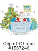 Santa Clipart #1567246 by Alex Bannykh