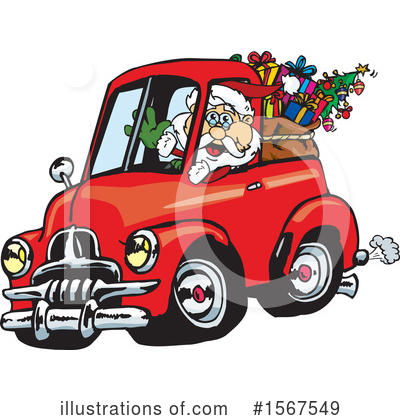 Royalty-Free (RF) Santa Clipart Illustration by Dennis Holmes Designs - Stock Sample #1567549