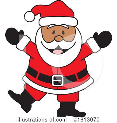 Santa Clipart #1613070 by Johnny Sajem