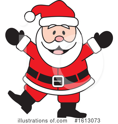 Santa Clipart #1613073 by Johnny Sajem