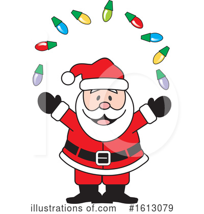 Santa Clipart #1613079 by Johnny Sajem
