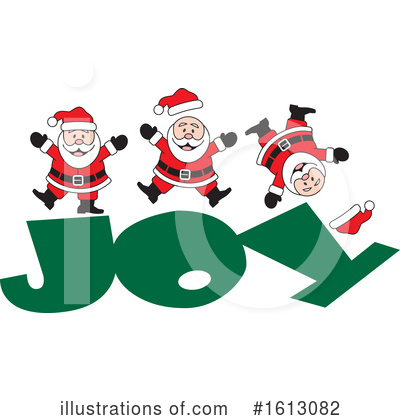 Santa Clipart #1613082 by Johnny Sajem