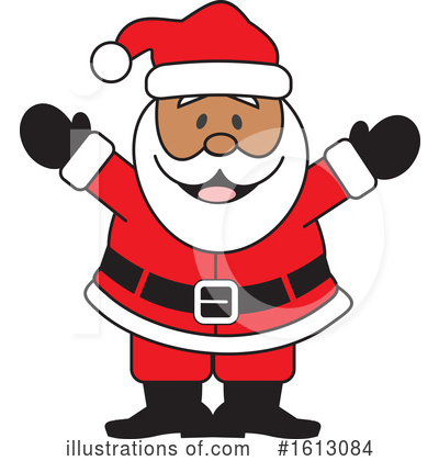 Santa Clipart #1613084 by Johnny Sajem