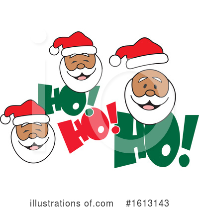 Santa Clipart #1613143 by Johnny Sajem