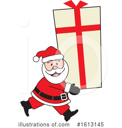 Santa Clipart #1613145 by Johnny Sajem