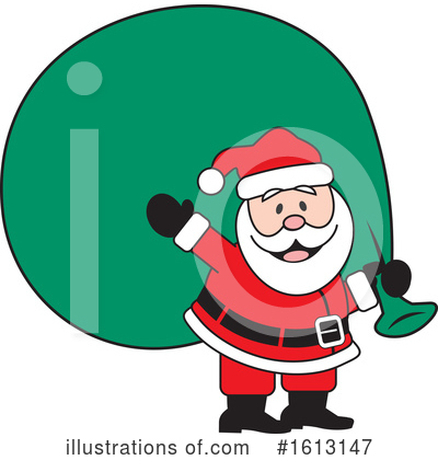 Santa Clipart #1613147 by Johnny Sajem