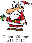 Santa Clipart #1617112 by toonaday