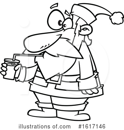 Royalty-Free (RF) Santa Clipart Illustration by toonaday - Stock Sample #1617146