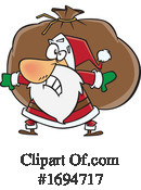Santa Clipart #1694717 by toonaday