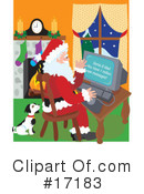 Royalty-Free (RF) Santa Clipart Illustration #17183
