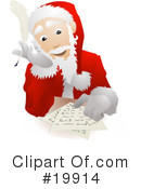 Santa Clipart #19914 by AtStockIllustration